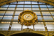 Clock in Musée d'Orsay, Paris, France