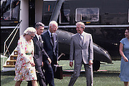 President Carter with Elsworth Bunker and Sol Linowitz, the engotiators of the Panama Canal Treaty in August 1977<br /> Photo by Dennis Brack
