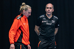 Ass. Coach Ekaterina Andryushina of Netherlands, Rinke van den Brink of Netherlands during the Women's friendly match between Netherlands and Slovenia at De Maaspoort on march 19, 2021 in Den Bosch, Netherlands (Photo by RHF Agency/Ronald Hoogendoorn)