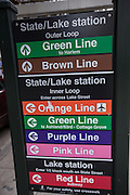 List of the L trains public transportation in the Loop District in Chicago, IL.