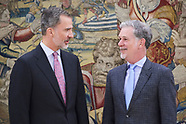 040519 King Felipe VI attends an audience with Audience to Mr. Reed Hastings