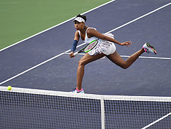 March 9, 2019 - Indian Wells, CA, U.S. - INDIAN WELLS, CA - MARCH 09: Venus Williams (USA) hitting a volley during  her 2nd round women's singles match at the BNP Paribas Open on March 09, 2019, played at the Indian Wells Tennis Garden in Indian Wells, CA.  (Photo by Cynthia Lum/Icon Sportswire) (Credit Image: © Cynthia Lum/Icon SMI via ZUMA Press)