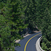 Road on Yosemite Natl. Park. California, USA.