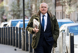© Licensed to London News Pictures. 24/03/2019. London, UK.  Iain Duncan Smith MP arrives to appear on the Andrew Marr show at BBC Broadcasting House in London.  Photo credit: Vickie Flores/LNP