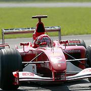 Rubens Barrichello on his way to winning the Italian Grand Prix
