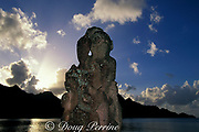 modern tiki, Taiohae Bay,<br /> Nuku Hiva; Marquesas Islands,<br /> French Polynesia <br /> ( South Pacific Ocean )