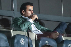 September 18, 2019, Paris, Ile de France, France: Tamis ben Hamad Al Thani (PSG) verre a la main (Credit Image: © Panoramic via ZUMA Press)