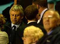 Photo. Glyn Thomas. Digitalsport<br /> Coventry City v Sheffield Wednesday. <br /> Carling Cup Second Round. 22/09/2004.<br /> Former Southampton manager Paul Sturrock (L) watches as Sheffield Wednesday take on Coventry. He has been linked with the job as Sheffield Wednesday manager.