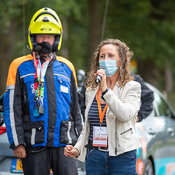 23-08-2020: Wielrennen: NK elite: Drijber<br />Burgemeester Midden Drenthe Mieke Damsma