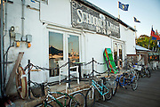 Bicycles parked at Schooner Wharf bar in Key West, Florida