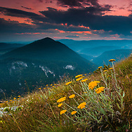 Rhodope Mountain ridge at summertime