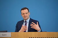 DEU, Deutschland, Germany, Berlin, 09.04.2020: Bundesgesundheitsminister Jens Spahn (CDU) in der Bundespressekonferenz zur Unterrichtung der Bundesregierung zur Bekämpfung des Coronavirus (Covid-19).
