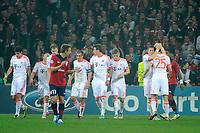 FOOTBALL - UEFA CHAMPIONS LEAGUE 2012/2013 - GROUP F - LILLE OSC v FC BAYERN MUNCHEN - 23/10/2012 - PHOTO JEAN MARIE HERVIO / REGAMEDIA / DPPI - JOY BAYERN AFTER THE THOMAS MULLER'S GOAL