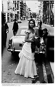 Lady Sarah Armstrong-Jones arriving with Viscount Linley for a ball given by the Queen of Greece. claridges. London 11 July 1986 film 86575f32<br />© Copyright Photograph by Dafydd Jones<br />66 Stockwell Park Rd. London SW9 0DA<br />Tel 0171 733 0108