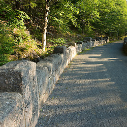 A carriage road in Acadia National Park Maine USA