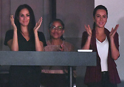 Prince Harry, Meghan Markle and Meghan's Mother Doria Radlan attend The Invictus Games 2017 Closing Ceremony at the Air Canada Centre, Toronto, Ontario, Canada, on the 30th September 2017. 30 Sep 2017 Pictured: Meghan Markle, Doria Radlan, Jessica Mulroney. Photo credit: James Whatling / MEGA TheMegaAgency.com +1 888 505 6342