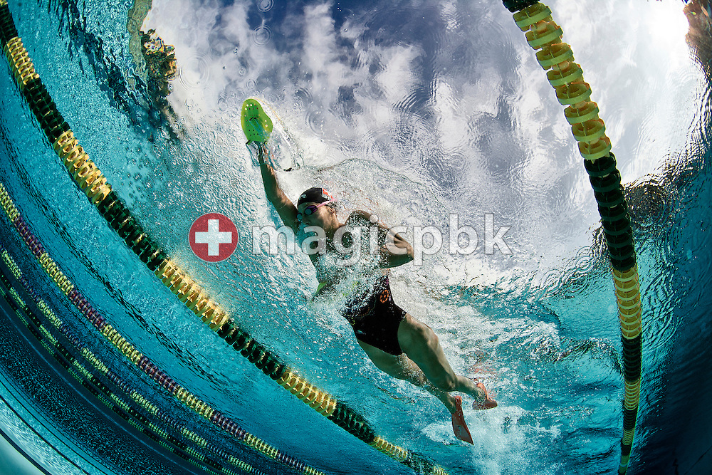 Swimmer Swann OBERSON of Switzerland is pictured during a training session at the outdoor swimming pool (Piscina Comunale) in Bellinzona, Switzerland, Monday, Aug. 8, 2011. (Photo by Patrick B. Kraemer / MAGICPBK)1
