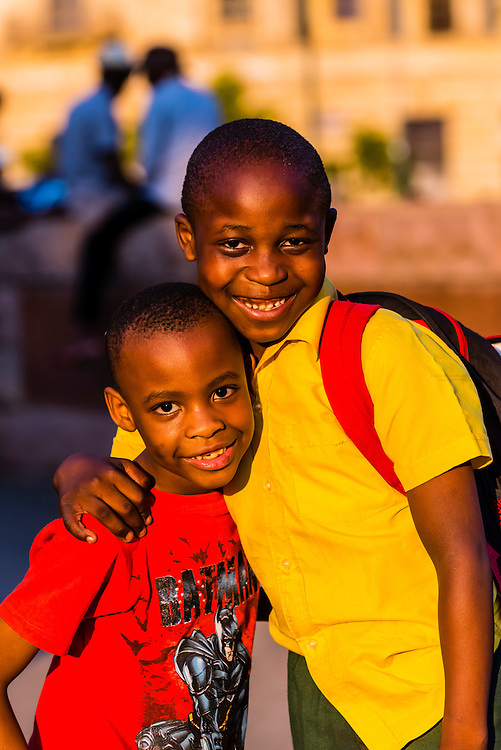 South African boys, Church Square (Kerkplein), Pretoria, South Africa.