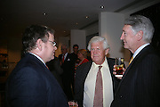 Nick Allen, Michael Stoddart and David Donnelly. Corporate Culture, A History of ?Corporate Art Culture. the Fleming Collection. Berkeley St. London W1J 8DU. 21 June 2005. ONE TIME USE ONLY - DO NOT ARCHIVE  © Copyright Photograph by Dafydd Jones 66 Stockwell Park Rd. London SW9 0DA Tel 020 7733 0108 www.dafjones.com
