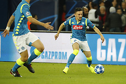 Napoli's Mario Rui during the Group stage of the Champion's League, Paris-St-Germain vs Napoli in Parc des Princes, Paris, France, on October 24th, 2018. PSG and Napoli drew 2-2. Photo by Henri Szwarc/ABACAPRESS.COM
