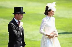 The Duke of Cambridge and The Duchess of Cambridge during day one of Royal Ascot at Ascot Racecourse.