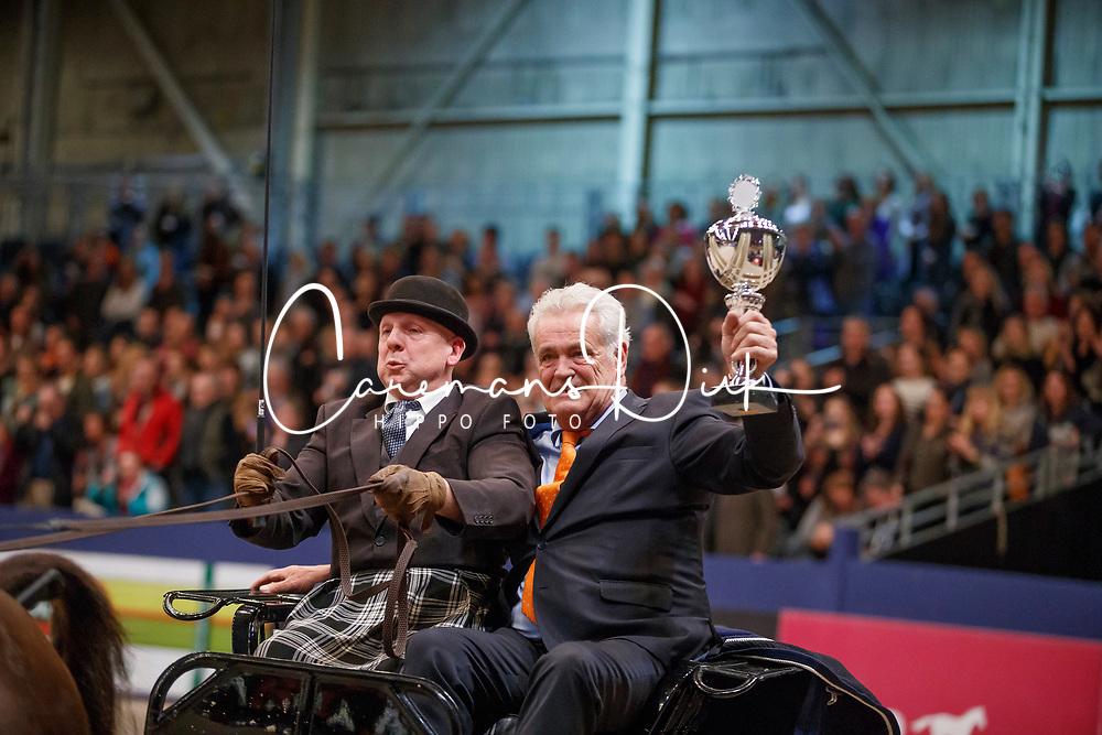 Van Dijk Robbie, winnaar Oregon Trofee<br /> KWPN Stallionshow - 's Hertogenbosch 2018<br /> © Hippo Foto - Dirk Caremans<br /> 03/02/2018