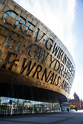 Cardiff, UK. 2nd May, 2017. The Wales Millennium Centre at Cardiff Bay. A national arts centre, the Wales Millennium Centre comprises a large theatre and two smaller halls and was opened on 22nd January 2009.