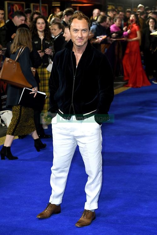 Jude Law attending the European premiere of Captain Marvel at Curzon Mayfair, London. Picture Credit Should Read: Doug Peters/EMPICS Entertainment