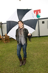 KT Tunstall backstage at T in the Park Friday 11 July 2008..T in the Park 2008 festival took place on the Friday 10th July, Saturday 11th July and Sunday 12th July, at Balado, near Kinross in Perth and Kinross, Scotland..Pic ©Michael Schofield. All Rights Reserved..
