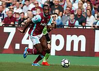 Football - 2016 / 2017 Premier League - West Ham United vs. AFC Bournemouth<br /> <br /> Arthur Masuaku of West Ham at The London Stadium.<br /> <br /> COLORSPORT/DANIEL BEARHAM