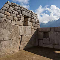 """Partial view of the temple of the three windows, better known as """"Templo de las Tres Ventanas""""."""