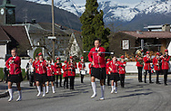 The morning Nasjonaldagen (Constitution Day) parade makes its way uphill to the senior housing community in Sandane, Norway, on May 17, 2013.  (© 2013 Cindi Christie)(© 2013 Cindi Christie)
