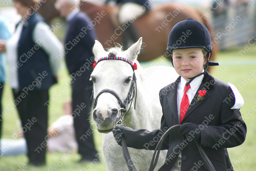 Niall McGrath his Pony at the Mullagh Show on Sunday. Pic. Brian Arthur/Press 22.