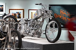 """Custom Shovelhead by Ken Nagai of Ken's Factory in Signal Hill CA and Japan in Michael Lichter's Motorcycles as Art annual exhibition titled """"The Naked Truth"""" at the Buffalo Chip Gallery during the 75th Annual Sturgis Black Hills Motorcycle Rally.  SD, USA.  August 4, 2015.  Photography ©2015 Michael Lichter."""
