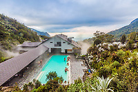 Los Termales  , Colombia  - February 19, 2017 :  hot springs of Hotel Spa Los Termales Caldas in Colombia South America