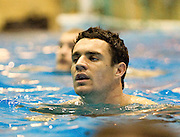 Dan Carter during the pool session. Rugby - All Blacks pool session at QEII pool, Christchurch. Monday 2 August 2010. Photo: Joseph Johnson/PHOTOSPORT