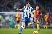 Brighton winger, Jamie Murphy (15) during the Sky Bet Championship match between Brighton and Hove Albion and Birmingham City at the American Express Community Stadium, Brighton and Hove, England on 28 November 2015.