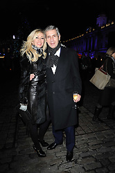 JENNY HALPERN-PRINCE and SIR STUART ROSE at Skate presented by Tiffany & Co at Somerset House, London on 22nd November 2010.