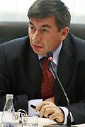 Pristina, Kosovo<br /> Thursday, September 25th, 2008<br /> <br /> <br /> PICTURED: Minister for Public Utilities (MPU), Arsim Bajrami. during the government meeting.<br /> <br /> Vedat Xhymshiti / ZUMA Press