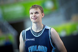 Teemu Rannikko of Finnland at practice session of team Finnland 1 day before the beginning of Eurobasket 2013 on September 3, 2013 in Arena Bonifika, Koper, Slovenia. (Photo by Matic Klansek Velej / Sportida.com)