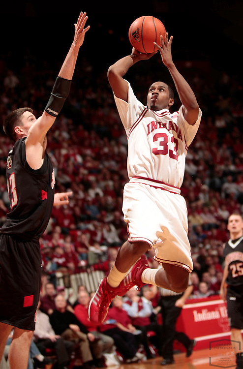 22 December 2008: Indiana guard Devan Dumes (33) as the Indiana Hoosiers played the Northeastern Huskies in a college basketball game in Bloomington, Ind.