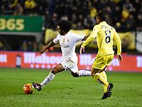 Villarreal CF's J. Dos Santos and Real Madrid's Marcelo during La Liga match. December 13, 2015. (ALTERPHOTOS/Javier Comos)