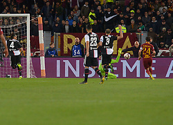May 12, 2019 - Rome, Italy - Alessandro Florenzi celebrates after scoring goal 1-0  during the Italian Serie A football match between A.S. Roma and Juventus at the Olympic Stadium in Rome, on may 12, 2019. (Credit Image: © Silvia Lore/NurPhoto via ZUMA Press)