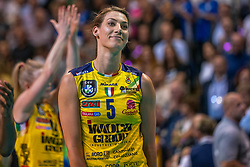 18-05-2019 GER: CEV CL Super Finals Igor Gorgonzola Novara - Imoco Volley Conegliano, Berlin<br /> Igor Gorgonzola Novara take women's title! Novara win 3-1 / Robin de Kruijf #5 of Imoco Volley Conegliano disappointed she thanks the fans