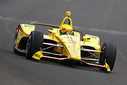 May 18, 2018 - Indianapolis, Indiana, United States of America - HELIO CASTRONEVES (3) of Brazil brings his car down the frontstretch during ''Fast Friday'' practice for the Indianapolis 500 at the Indianapolis Motor Speedway in Indianapolis, Indiana. (Credit Image: © Chris Owens Asp Inc/ASP via ZUMA Wire)