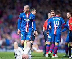 Inverness Caledonian Thistle's scorer James Vincent at the end. Falkirk 1 v 2 Inverness CT, Scottish Cup final at Hampden.