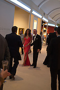 ELIZABETH HURLEY; PATRICK COX, The Neo Romantic Art Gala in aid of the NSPCC. Masterpiece. Chelsea. London.  30 June 2015
