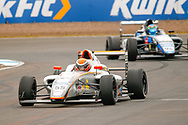 Carter Williams(USA) JHR Developments heads along the  start/finish straight during the FIA Formula 4 British Championship at Knockhill Racing Circuit, Dunfermline, Scotland on 15 September 2019.