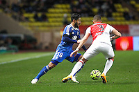 Nabil FEKIR - 01.02.2015 - Monaco / Lyon - 23eme journee de Ligue 1 -<br />