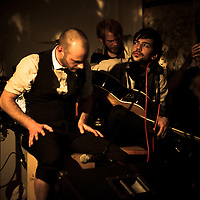 Sam Haine & The Bloodflames performing live at Gullivers, Manchester, 2012-02-25